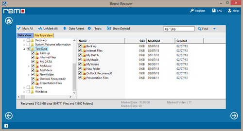 Recover Deleted USB Drive Files - Preview Screen