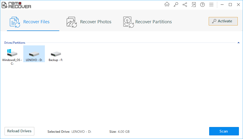 Recover Deleted USB Drive Files - Welcome Window